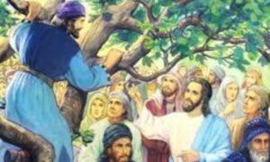 Zaqueo es invitado por Jesús