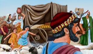 Jacob antes de encontrarse con Esaú