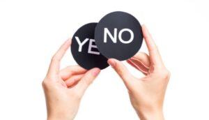 De qué forma confundirse cuando Dios dice que No