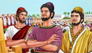 Los jóvenes Hebreos Sadrac, Mesac y Abed-nego
