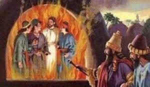 Dios salva del Horno de Fuego a Sadrac Mesac y Abed-nego