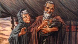 Promesa a Sara y Abraham del nacimiento de Isaac